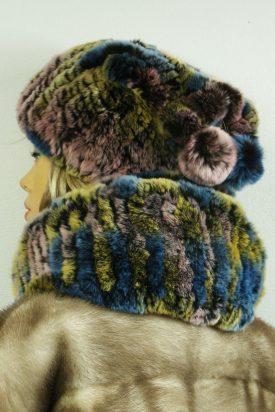 czapka futrzana z królików tył LM03-1
