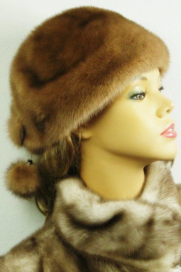 czapka futrzana z norki LN21-1