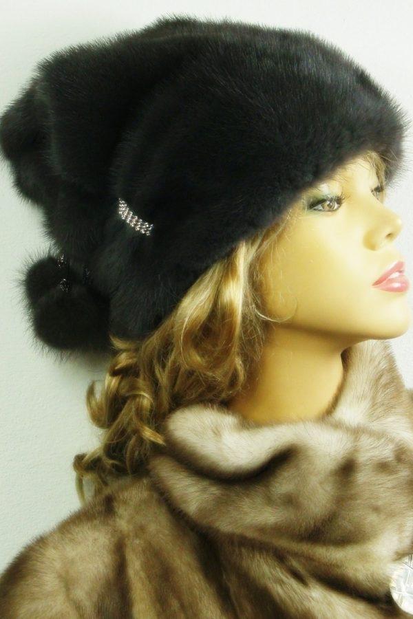 czapka futrzana z norki LN22-2