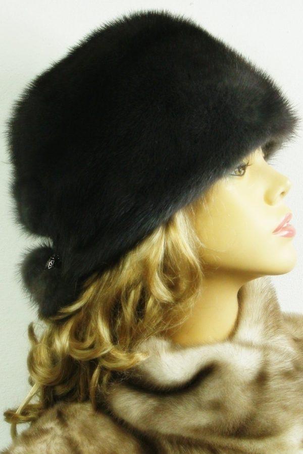 czapka futrzana z norki LN23-1