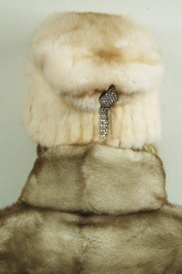 czapka futrzana z norki tył LN14-1