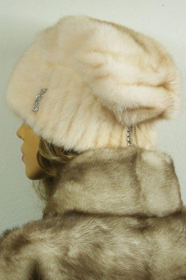 czapka futrzana z norki tył LN14-2