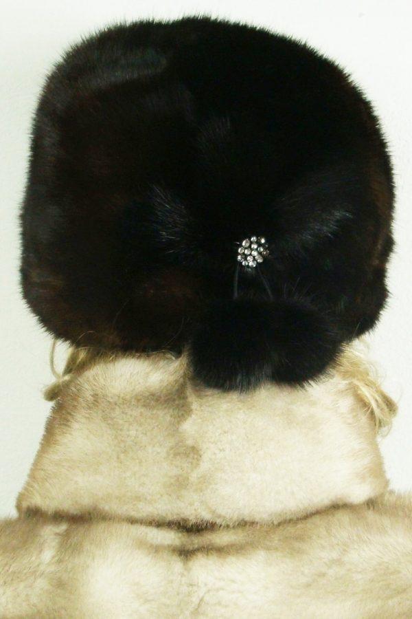 czapka futrzana z norki tył LN16-2