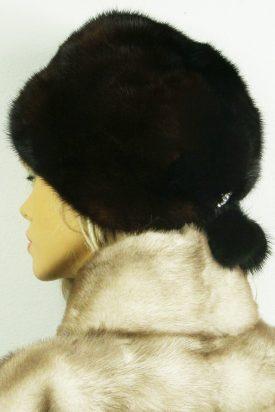 czapka futrzana z norki tył LN16-3
