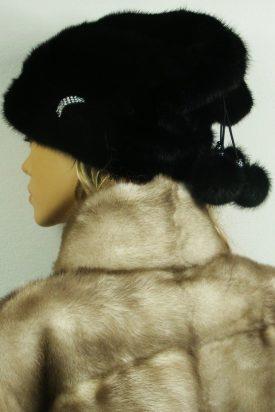 czapka futrzana z norki tył LN17-1