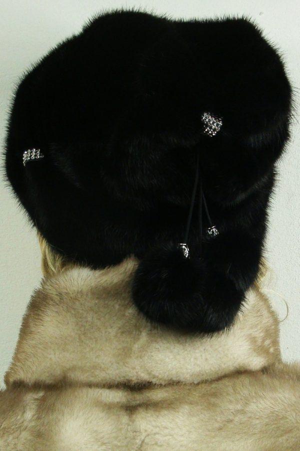 czapka futrzana z norki tył LN17-2