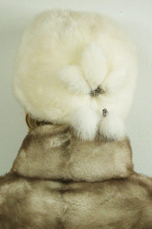 czapka futrzana z norki tył LN18-2