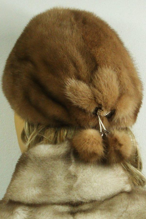 czapka futrzana z norki tył LN21-2