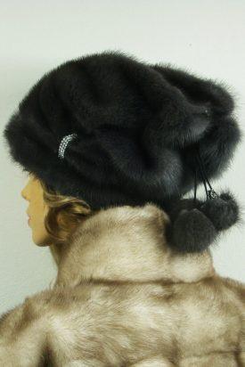czapka futrzana z norki tył LN22-2