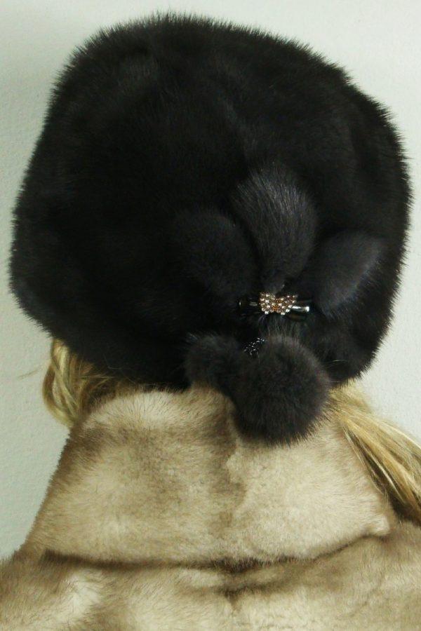 czapka futrzana z norki tył LN23-2